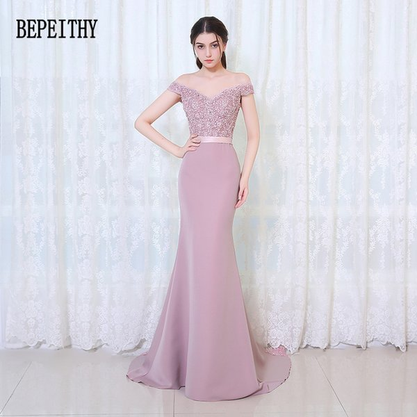 Bepeithy Vestido De Festa Longo Meerjungfrau Kleider Bodenlangen Nach Maß Langes Partykleid Günstige Brautjungfernkleider 2019 Q190516