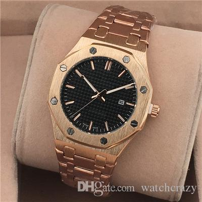 top popular Hot Sale 2019 New Fashion Dress Luxury Design Men Watch Casual Stainless Strap Quartz Watch Montre Clock Reloj De Marca Wristwatch Wholesale 2019