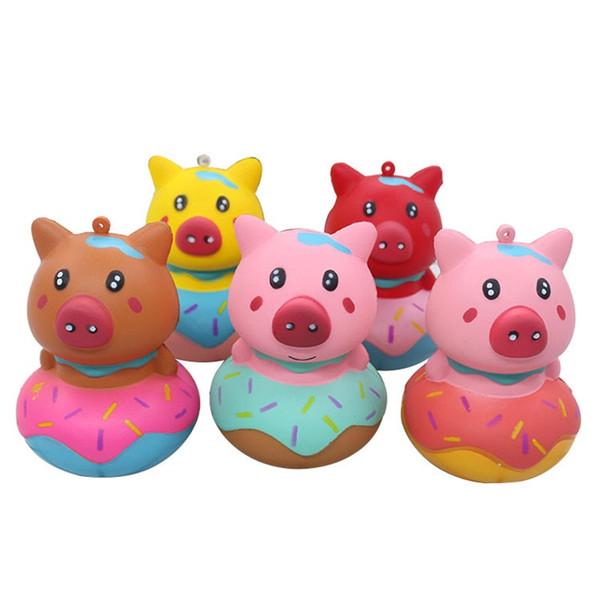 Schwein Donuts Squishy Simulierte Tier Nette Squishies PU Bunte Stressabbau Langsam Rebound Spielzeug Kinder Vent Spielzeug 6wwb O1