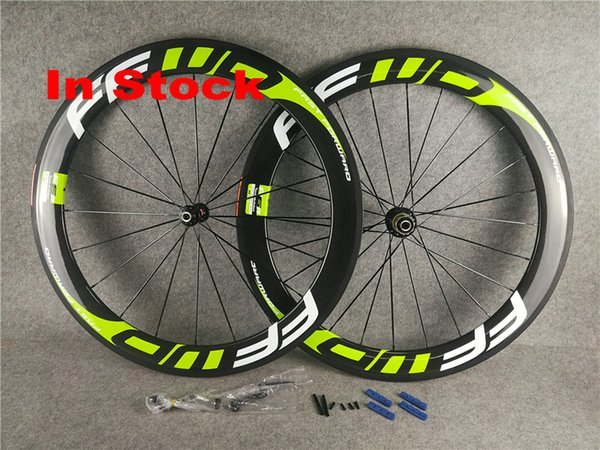 In stock Green FFWD road bicycle wheels Light A291 Hubs Carbon Road Bike Wheelset Clincher 60mm