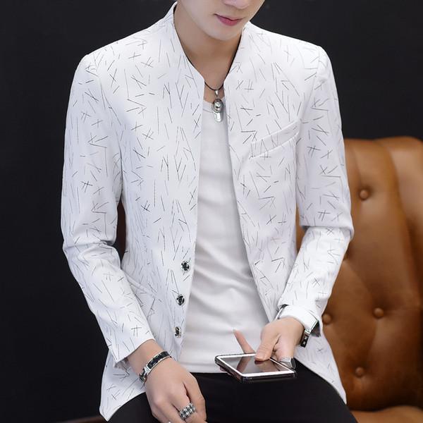 Chinese Style Mens Slim Fit Blazer Men Design Plus Size Tunic Man Casual Male Slim Fit Suit Jacket Singer Costume 6XL 5XL