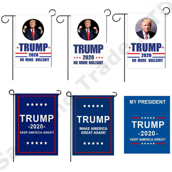top popular 30*45cm Donald Trump Yard Flag Garden Decor 2020 America President Campaign Banner USA Election Flags 7 Style Novelty Items A32009 2021