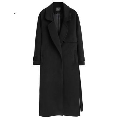SONDR de lã feminino casaco longa seção outono e inverno 2019 selvagem novo ocasional slim slimming solta sobre o revestimento do joelho casaco T191028