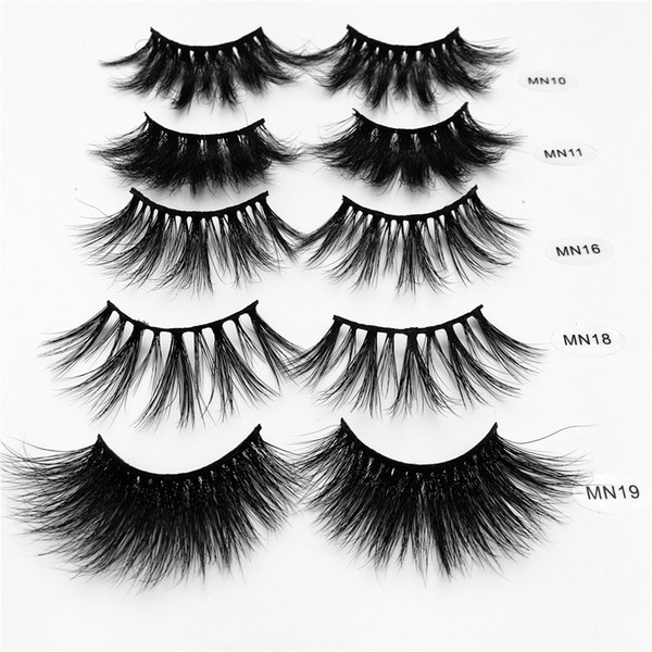 1 pair 27mm 30mm thick makeup la he 3d mink hair fal e eyela he long wi pie fluffy multilayer eyela he cruelty exten ion paper box