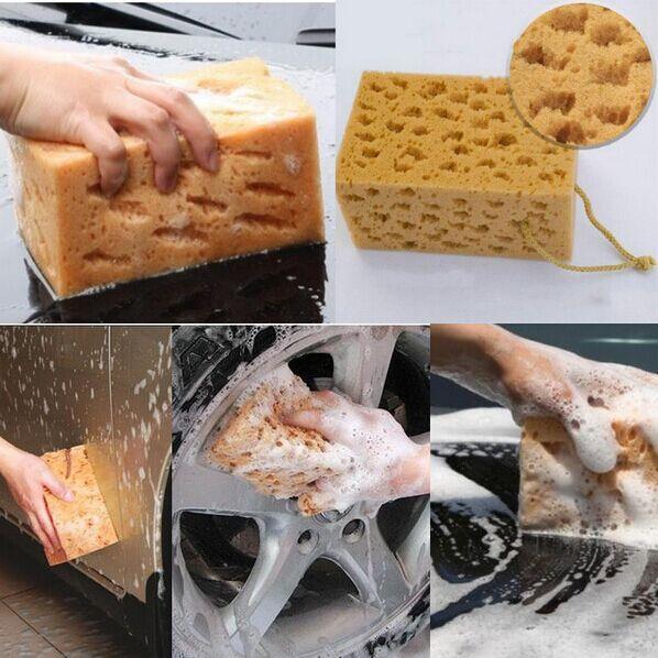 Home Useful High Quality Car Auto Washing Cleaning Sponge Block Cleaner Wiper Mini Yellow Honeycomb Coralline Car Sponge