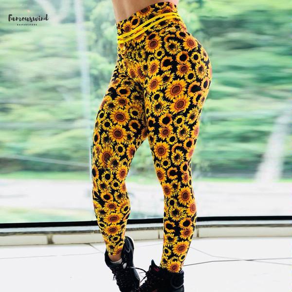 Slim stampato Fitness Leggings Donne Leggins compressione Push Up Abbigliamento casual Workout stampa Patchwork pantaloni di buona qualità