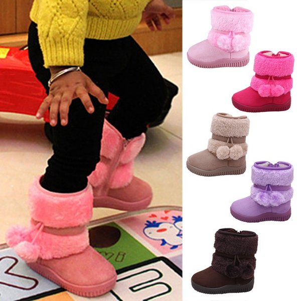 Winter Boots Plus Velvet Soft Sole Crib Booties Outdoors Infant Shoes Soft Bottom Non-slip Warm Snow Boots Baby Shoes New A