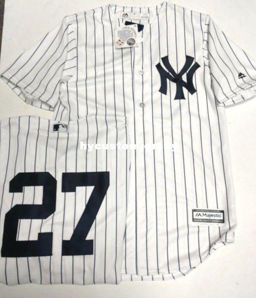 Дешевые Джанкарло Стэнтон #27 мужская в полоску прохладный базовый Джерси величественный новый сшитые бейсбольные майки