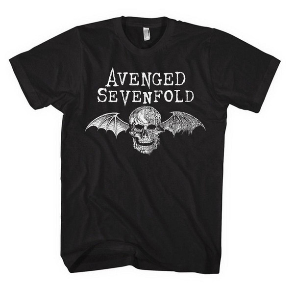 Avenged Sevenfold' Death Bat Logo ' Comfortable t shirt Casual Short Sleeve Print 100% Cotton Short Sleeve T-Shirt New Top Tees St