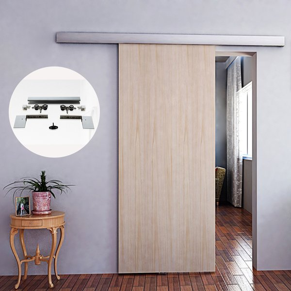 best selling 6.6 FT Aluminium alloy Frameless sliding barn wood door hardware