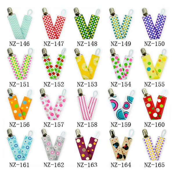 Baby Bib Clip Anti-Drop Chain Double-Sided Ribbon Adjustable Nipple Holder Nipple Child Pacifier Clip Pacifier Clip Safety Care Setfree ship