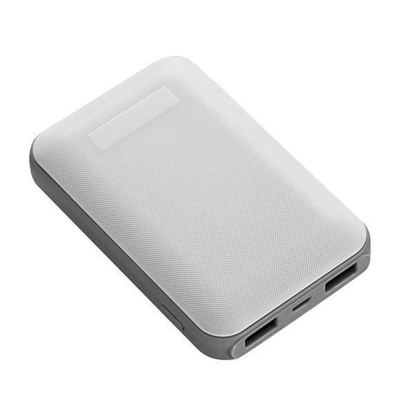 Ports Battery White 10000 Bank ABS 1A Ultra-thin Charger 5V External Dual mAh 2 PC 5V Power Black Portable USB 2A