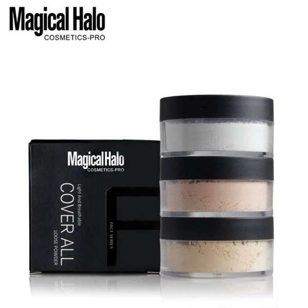 Drop ship 6 pcs Magical Halo Smooth Loose Powder Makeup Transparent Finishing Powder Waterproof Cosmetic For Face Finish Setting With Puff