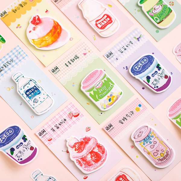 New cute sweet drink sticky memo pad notepad paper message note Wholesale