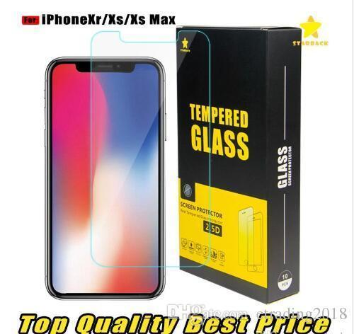 New For Iphone 8 Plus iPhone XR XS Max Top Quality Best Price Tempered Glass Screen Protector 2.5D Ship Out Within 1 Day