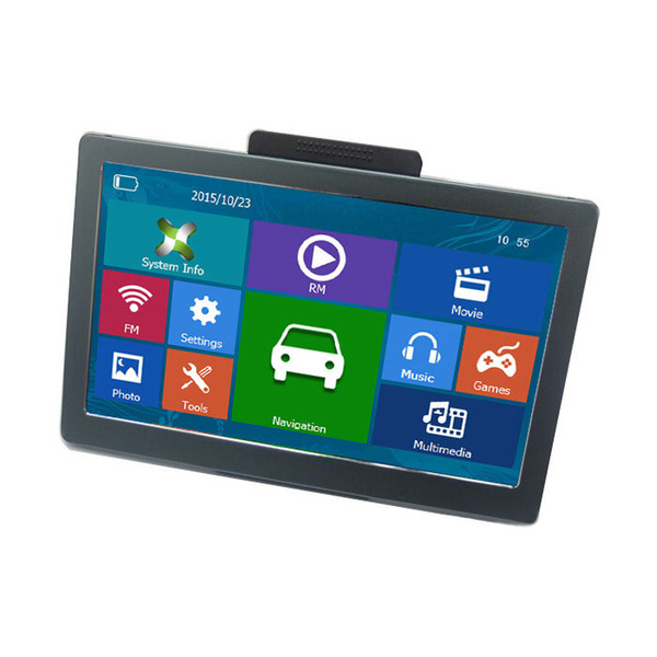 2019 HD 7 pulgadas Coche Bluetooth Navegación GPS AVIN Camión GPS Navigator 800MHZ RAM256MB Transmisor FM MP4 MP3 8GB 3D TTS Maps