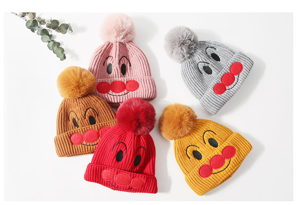A Cartoon Clown Hat With Thick Fur Cap For Both Boys And Girls