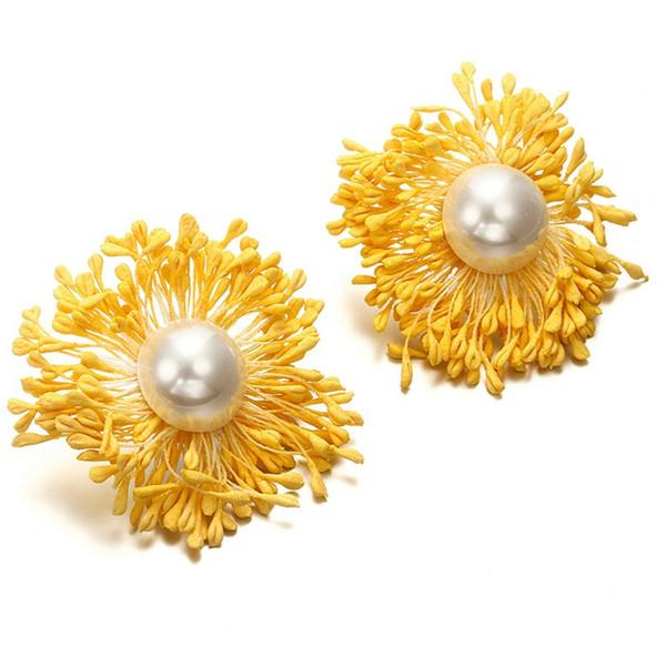 tud Earrings KMVEXO Korea New 2018 Design Cute Elegant Dry Flower Stud Earrings for Women Girl Summer Beach Pearl Earings Party Jewelry G...