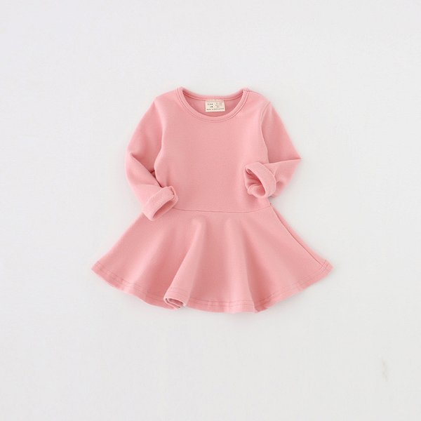Long sleeve dress for girls 100% cotton baby girl dress cute clothes newborn infant 1 year birthday dress 2019 bebes vestidos