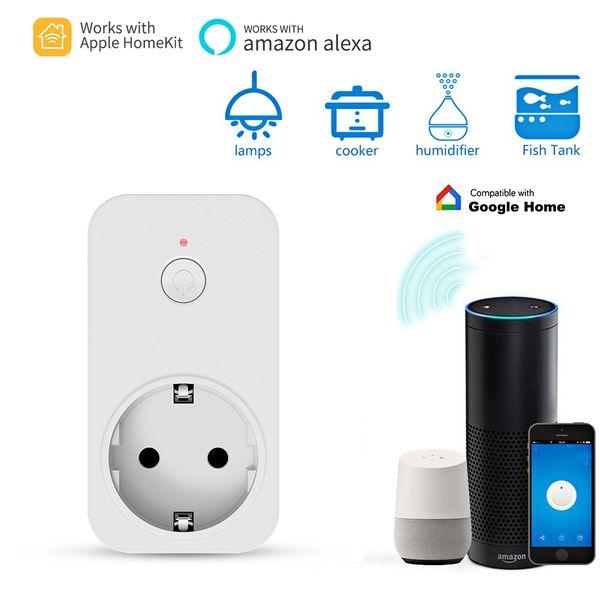 Timethinker Smart WiFi Socket para Apple Homekit AU EE. UU. UE, Reino Unido Plug Work for ALexa Google Home APP Siri Voice Control remoto Salida
