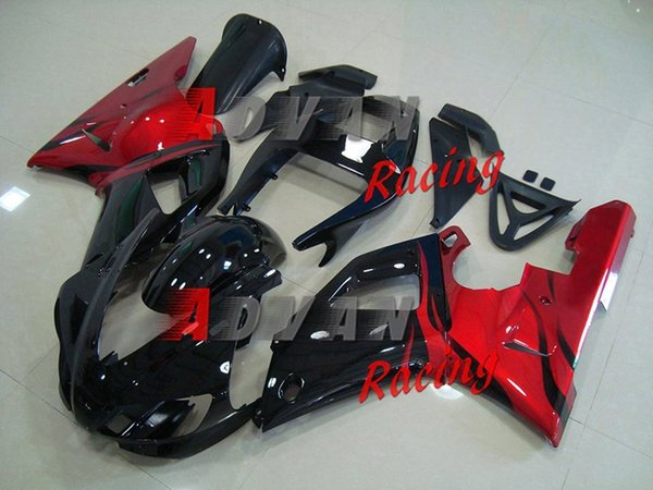 New ABS Motorcycle Fairing kit for YAMAHA YZF R 1 98 99 YZF R 1 1998 1999 YZF1000 yzf r1 98 99 Fairings set cool red black