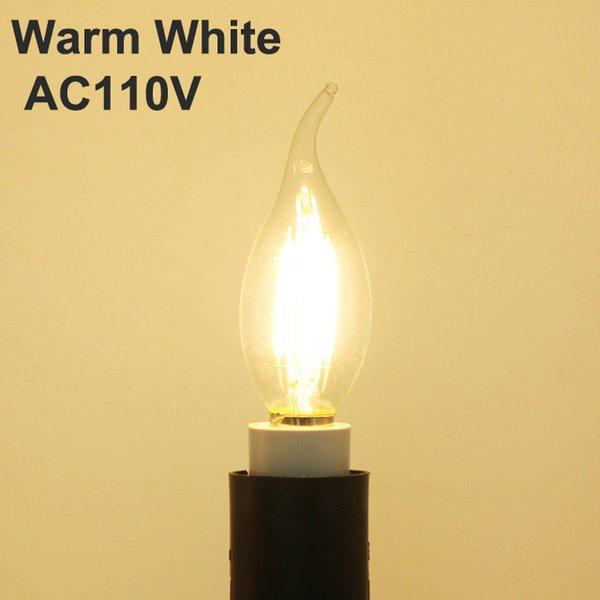 الدافئة الأبيض NO يعتم AC110V