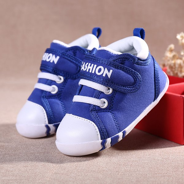 2019 New Casual Child Canvas Shoes Blue Pink Flats Kids Baby Sneakers Comfortable Children Walking Shoes Wearable Toddler