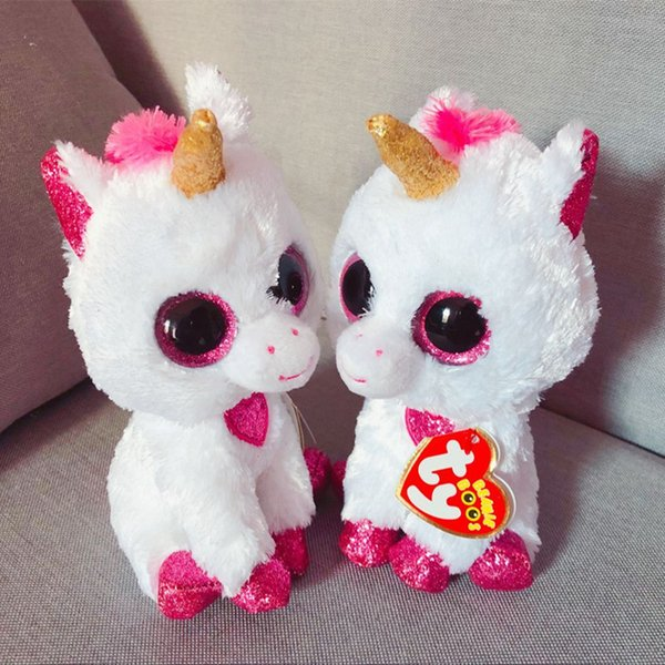 Hot Ty Beanie Boos Big Eyes 15CM Christmas Bear Plush Doll Kawaii Stuffed Animals Collection Lovely Children'S Gifts Toys