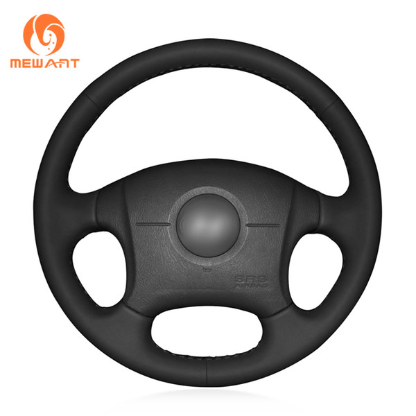 MEWANT Black Artificial Leather Car Steering Wheel Cover for 2004-2011 Elantra Old Elantra