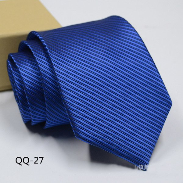 Blue Pinstripe Man Tie for Men Suit Wedding Groom Tuxedos Business Man Fashion Ties New Arrival