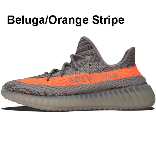 Beluga/Orange Stripe