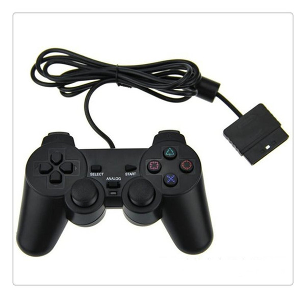 For Game Console Playstation 2 Wired Controller Para for PS2 Joystick Gamepad For Black High Quality