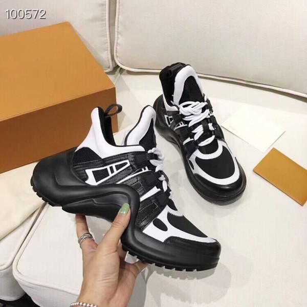 Archlight Sneaker Erkekler Tasarımcı Ayakkabı Kadınlar Rahat Ayakkabılar Lüks Deri Örgü Patchwork Sneaker Ayak Bileği Düşük Kesim Rahat Ayakkabılar En Kaliteli