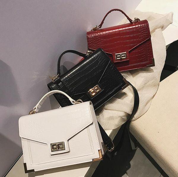 Европейские и американские модные женские дамы плечо квадратная сумка замок пряжка сумка тотализатор сумка сумка через плечо