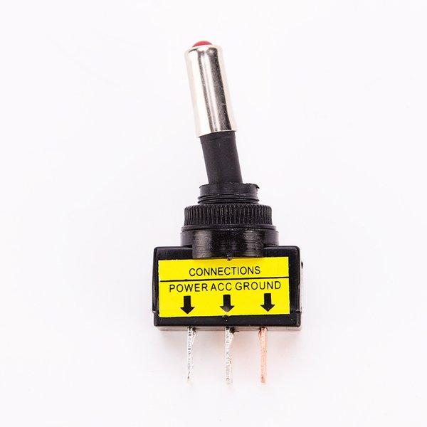 12V 20A Botão LED Carro Motocicleta Azul Modificado Rocker Switch Com luz indicadora 3Pin