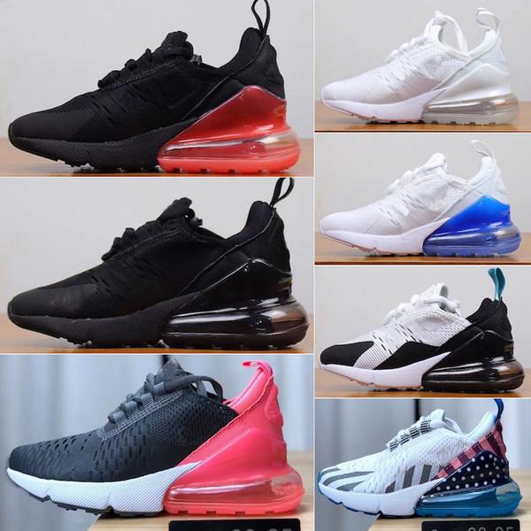 Nike air max 270 AB boyutu 24-34 Yeni marka çocuk kanvas ayakkabılar moda yüksek-düşük ayakkabı erkek ve kız spor kanvas ayakkabılar ve spor çocuk sneakers