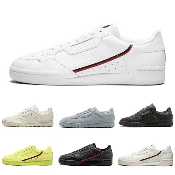 Adidas ORIGINALS CONTINENTAL 80 Calabasas Повседневная обувь Kanye West Aero синий Core черный OG белый Мужчин
