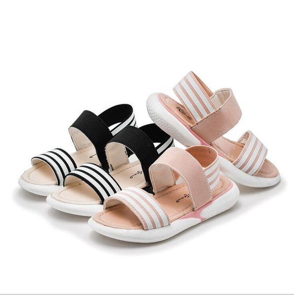 2019 summer new kids shoes open toe toddler boys girls sandals stripe sport children beach shoes baby sandals