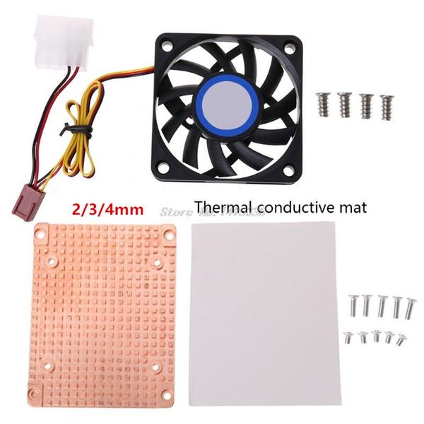 2/3 / 4mm PC Elektronik Bileşenler whosale için Aktif Fan dağıtır Isı Saf Bakır 2.5 İnç Sabit Disk Cooler Isı Emici