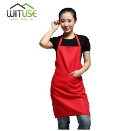 Acheter Wituse Impermeable Rouge Tabliers Sans Manches Cuisine Femmes Dames Tabliers Cuisine Restaurant Hotel Adulte Chef Coton Polyester Tablier De
