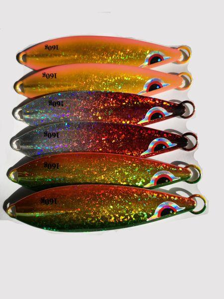 160g 105mm Luminous Jigs Fishing Lures Slow Sinking Metal Hard Baits Jigging Lead Fish Fishing Baits for Sea Boat Fishing