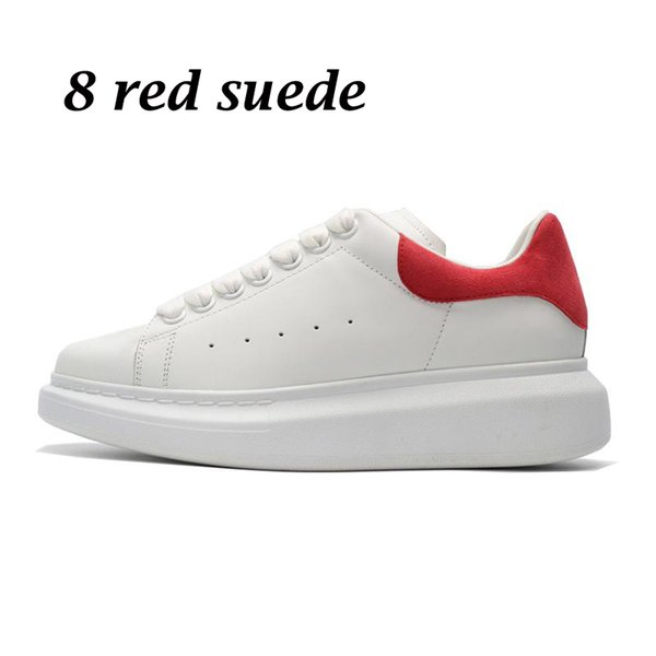 8 red suede
