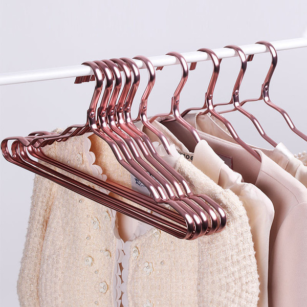 Wholesale Space Aluminum Hanger Waterproof Rust-proof Clothes Rack No Trace Clothing Support Household Anti-skid Clothes Hanging DBC DH0477