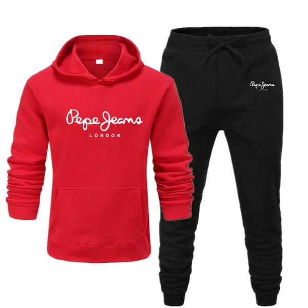 Designer Men's Tracksuits Fashion Pullover Hoodies +pants Two-pieces Tracksuits Hot Sale Cotton Blend Long Suits for Men Sportwear 28 Colors
