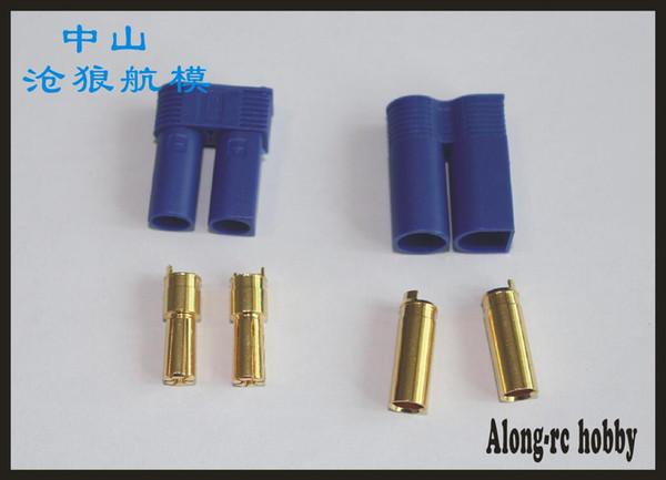 Livraison gratuite 10 paires 100A courant fort plaqué or EC5 connecteur EC5 prise EC5 prise Pour RC ESC LIPO Batterie Modèle avion