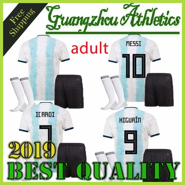 best selling Copa America 2019 men Argentina soccer jersey 2020 adult KITS 19 20 MESSI DYBALA MARADONA AGUERO DI MARIA HIGUAIN football shirts