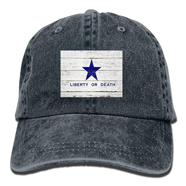 2019 New Wholesale Baseball Caps Mens Cotton Washed Twill Baseball Cap Liberty Death Flag Goliad Texas Battle Independence Military Flag Hat