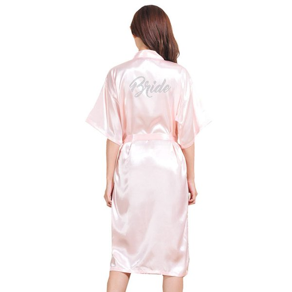 Hot Drill Bride Lady Thin Silk Long Cardigan Gown New Wedding Bridal Makeup Morning Gown Bride Robe