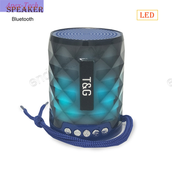 Wireless Best Bluetooth Speaker Portable Mini Colorful LED Box Loudspeaker Speaker Design for PC Android ISO cellphone DHL Free Dropshipping