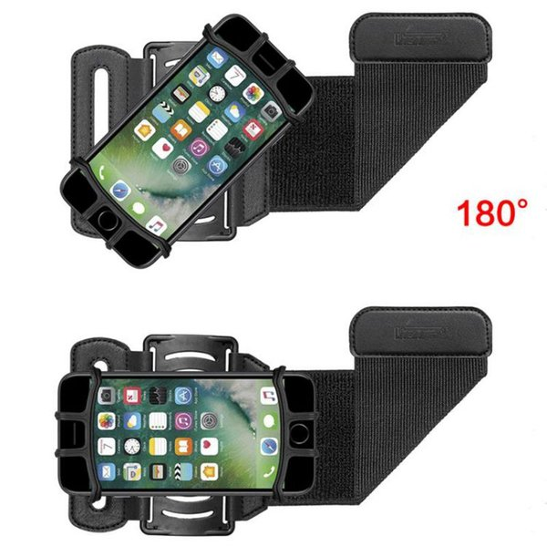 180 Degrees Rotatable Running Armband Adjustable Silicone Phone Holder Case Outdoor Sports Arm Band Strap